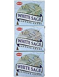 HEM ホワイトセージ コーン 3個セット