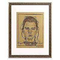 フェルディナント・ホドラー 「Portrait eines jungen Madchens.」 額装アート作品