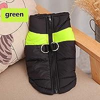グリーン、M:小中大犬4色S-5XLのためのファッションペット犬子犬ベストジャケットチワワ服暖かい冬の犬服のコート