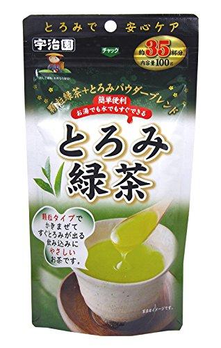 とろみパウダー入 粉末緑茶 100g