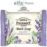 石鹸 固形 安心?安全 古代からのハーブの知識を生かして作られた固形せっけん ポーランドのグリーンファーマシー elfa Pharm Green Pharmacy Bath Soap Lavender with Flaxseed...