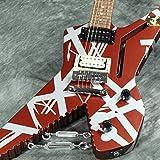 EVH エレキギター Striped Series Shark, Pau Ferro Fingerboard, Burgundy with Silver Stripes