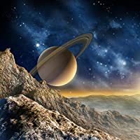 Ljjlm カスタム任意サイズ壁画壁紙3Dステレオ惑星ムーン壁画レストランクラブKtvバー現代の創造的な装飾壁紙Papel-200X140CM