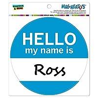 ロスこんにちは、私の名前は - サークル MAG-格好いい'S(TM)カー/冷蔵庫マグネット