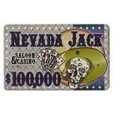 Brybelly Holdings PCB-2505 100,000 Dollars Nevada Jack 40 Gram Ceramic Poker Plaque