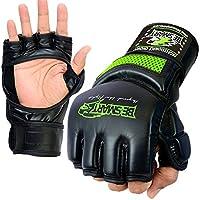 MMA Fight Gloves UFCケージGrapplingグローブボクシングムエタイキックブラックグレー M