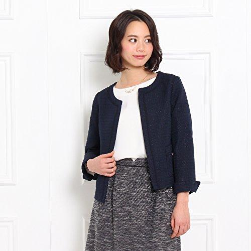(クチュールブローチ) Couture Brooch 【WEB限定・80%OFF】ラメツイードジャケット 50842052 38(M) ブルー系(495)