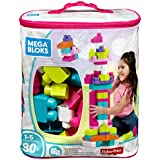Mega Bloks Big Building Bag 80-Piece, Pink