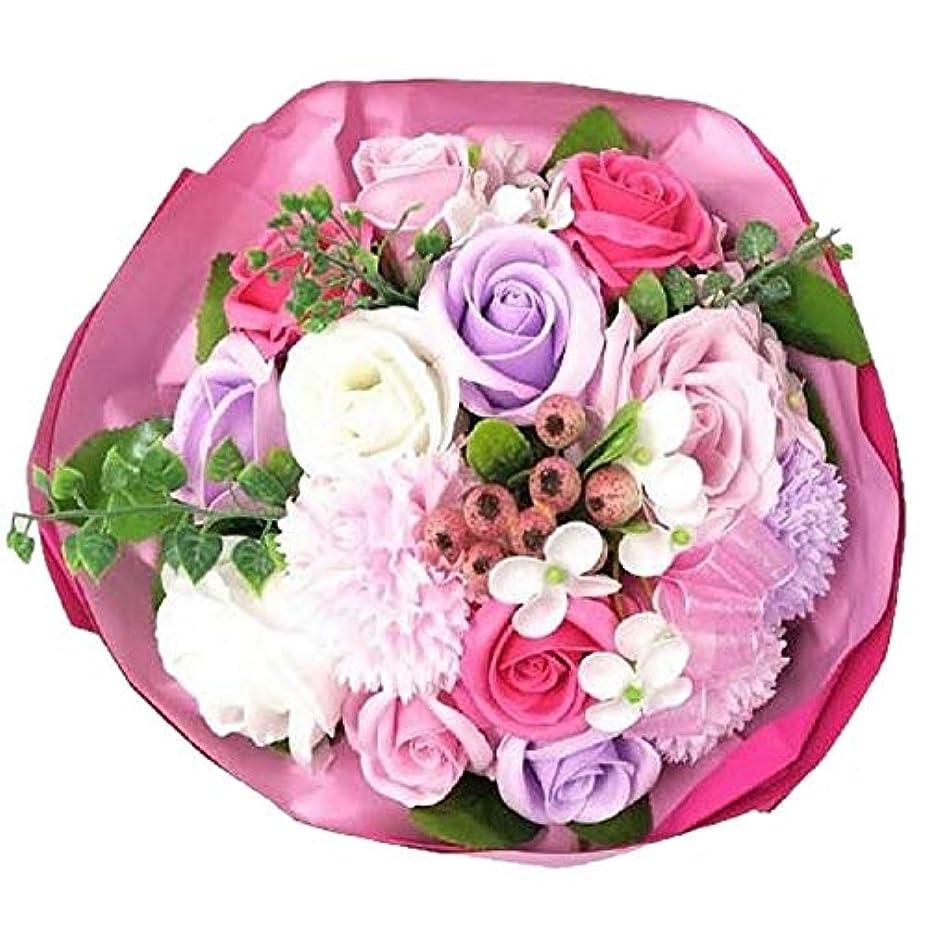 刺繍保護するミルバスフレグランス ソープミックスブーケLL (ピンクカラー)