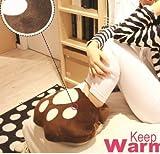 足元に愛を! フットウォーマー USB ベージュ 猫足 子供 女性用 屋内 足元 防寒 対策 保温 湯たんぽ 暖房 冷え性 スリッパ デスクワーク  肉球 足底 HB385