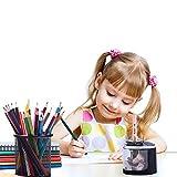 JINGDIAN 鉛筆削り電動 手動 両用 持ち運び便利 電動えんぴつ削り 子供/学校/事務用 2.4