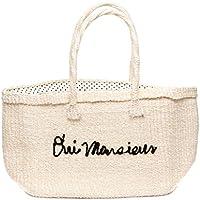 Larone Artisans Vegan Straw Tote Bag, Convertible Handwoven Embroidered Shopping Beach Cotton Handbag, Cotton Bag for Women