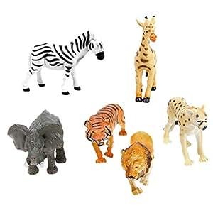 【ノーブランド品】人気動物のフィギュア 野生動物 アニマル 6個セット