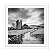 Livesey Shap Abbey Cumbria England Photo Square Wooden Framed Wall Art Print Picture 16X16 Inch イングランド写真木材壁画像