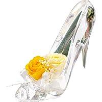プリザーブドフラワー IPFA ガラスの靴 シンデレラ [プレゼント] ギフト/花/結婚記念日/誕生日 (イエロー×クリ…