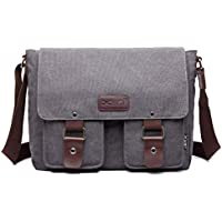 Women and Men Messenger Bag Canvas Satchel Shoulder Bag Cross Body Bag