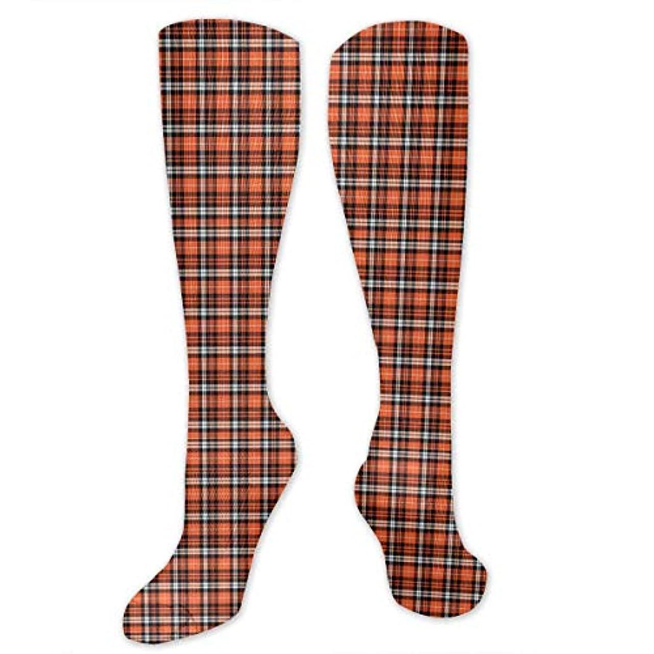 拮抗する押す私たち自身靴下,ストッキング,野生のジョーカー,実際,秋の本質,冬必須,サマーウェア&RBXAA Pumpkin Fall Plaid Orange,Black,White Socks Women's Winter Cotton...