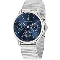 Maserati Epoca 42mm Silver Metal Strap Quartz Men's Watch R8853118013