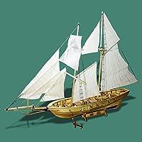 Liebeye DIY船のおもちゃ 建物のキット 組み立てる船のモデル 木製の帆船のおもちゃ ハーベイセーリングモデル 組立木製キットDIY 西洋船 3D立体パズル