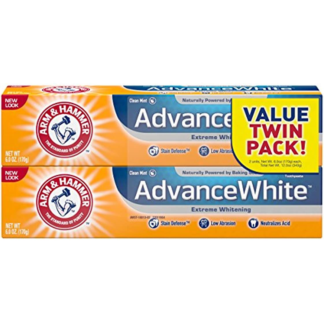 Arm & Hammer アーム&ハマー アドバンス ホワイト 歯磨き粉 2個パック Toothpaste with Baking Soda & Peroxide