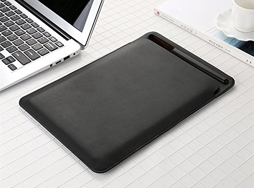 XHS iPad Pro 10.5 2017 ケース カバー Apple Pencil収納可能 PU製 スリム 薄型 6色あり (ブラック)