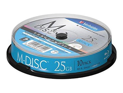 アイ・オー・データ機器 長期保存可能なデータ用ブルーレイ「M-DISC」1回記録用 25GB 1-4倍速 スピンドル10P VBR130YMDP10SV1