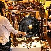 アジアン雑貨 ゴング 銅鑼 どら ドラ 大 [H.90cm] アジアの楽器
