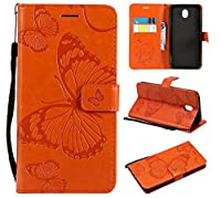 Case Samsung Galaxy J7 (2017) J730 (European Version) 肌, Slim Back Cover Personality Design Clear TPU Case Moonmini Back Cover For Samsung Galaxy J7 (2017) J730 (European Version) - Orange