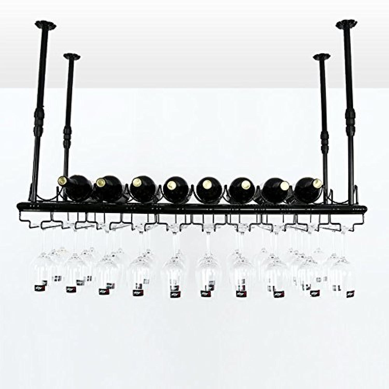 ワインラック 鍛造されたアイアンサスペンション2種類のサイズがあり、あらゆる種類のカップを吊るすことができます。伸縮アーム高温コーティングプロセス (サイズ さいず : 80 * 30cm)