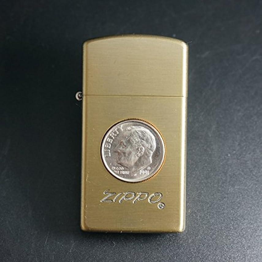 文法カナダもちろんzippo スリム コイン10セント 1991年製造