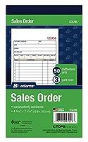 Adams 注文帳 3部 カーボンレス 4-3/16インチ x 7-3/16インチ 50セット ホワイト カナリアとピンク (TC4705) 12 Pack