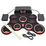KC キョーリツ 電子ドラム ポータブルドラム スピーカー内蔵 充電池駆動 RDM-03 (フットペダル/コンパクトドラムスティック/オーディオケーブル/日本語マニュアル付属)