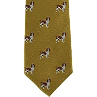 Michelsons of London Mens Beagle Silk Tie - Gold