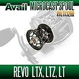 【Avail/アベイル】 【Abu/アブ】 Revo・レボ LTX・LTZ・LT用 軽量浅溝スプール Avail Microcast Spool RVLTX32RR (溝深さ3.2mm) ブラック
