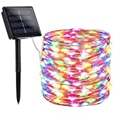 findyouled Solar String Lights Outdoor, 20m 200 LED Solar Powered String Fairy Tree Light with 8 Lighting Modes,Waterproof for Home,Garden,Decoration (Multi-Colored)