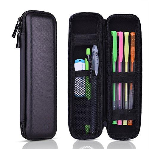 KUUQA ペンケース シンプル おしゃれ EVA製ハードケース 落下防止 耐衝撃 タッチペン、Apple Pencil、電子...