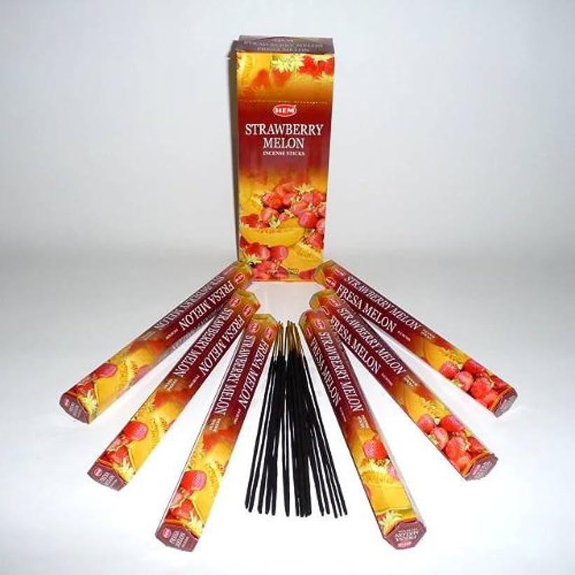 オレンジパイル疎外HEM(ヘム)社 ストロベリーメロン香 スティック STRAWBERRY-MELON 6箱セット