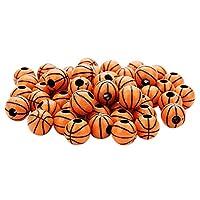 約50個 スポーツ ボール ビーズ バスケットボール スペーサービーズ  DIY 手芸 手作り 素材