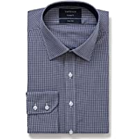 Van Heusen Men's Euro-Tailored Fit Mini Check Business Shirt