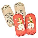 Kisumy腕貫き 腕カバー アームカバー 袖カバー (ガーデニング用、キッチン用、事務所用)大人用の全長:26cm   (魚と象)