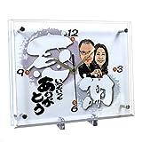 金婚式プレゼント 似顔絵時計 大サイズ N-5 銀婚式 結婚記念日両親プレゼント