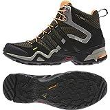 アディダス (adidas) 海外限定モデル 防水トレッキングシューズ 23.0cm テレックス Terrex FAST X HI GTX ゴアテックス ハイカットモデル M29317 ブラック/グリーン 国内正規品