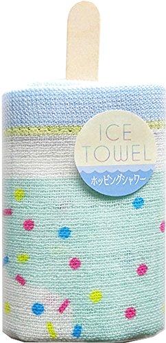 ICE TOWEL (アイスタオル) ウォッシュタオル 約34×35cm ホッピングシャワー ICE-051-hopping