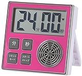 オーム電機 OHM  COK-TT1-R [時計機能付き お知らせタイマー ピンク] COK-TT1-R