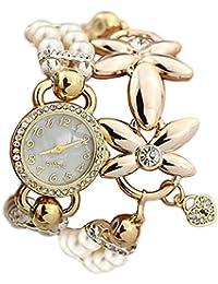 ガールズ 腕時計 子供用腕時計 女の子用花の形の腕時計 ブレスレット 日本製クォーツ 卒園 入学祝い ホワイト