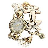 ガールズ 腕時計 花の形の腕時計 ブレスレット 日本製クォーツ 卒園 入学祝い ホワイト