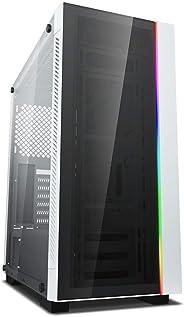 DEEPCOOL 強化ガラス仕様 ミドルタワーPCケース ホワイトカラー DP-ATX-MATREXX55V3-AR-WH