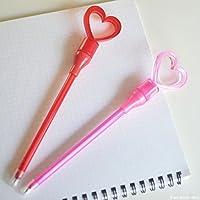 グローイングハートボールペンペン ボールペン おもしろ 事務用品 ハート 光る オフィス 文具 文房具 ステーショナリー デスクアクセサリー おもしろ