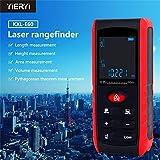 レーザー距離計 距離測定器 測定距離60M 高精度 携帯型 距離/面積/容積/ピタゴラス 連続測定 LCDデジタル表示 (レーザー:2レベル)