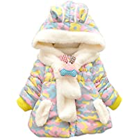 Ancia Baby Girls Infant Winter Rabbit Hood Outerwear Hoodie Coats Camouflage Jackets